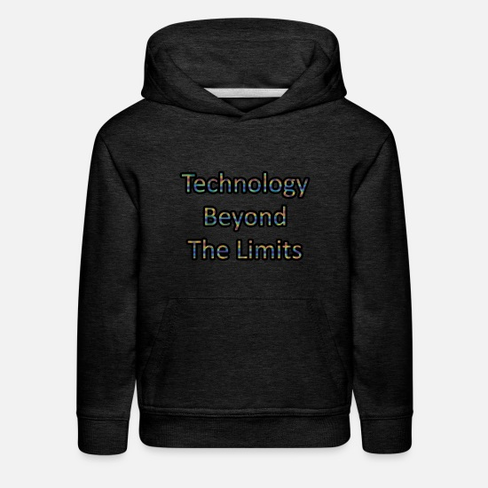 Limit Hoodies & Sweatshirts - Technology beyond the limits - Kids' Premium Hoodie charcoal gray