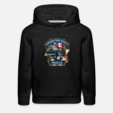 Cars American Built Muscle - Classic Muscle Car Cartoon - Kids' Premium Hoodie
