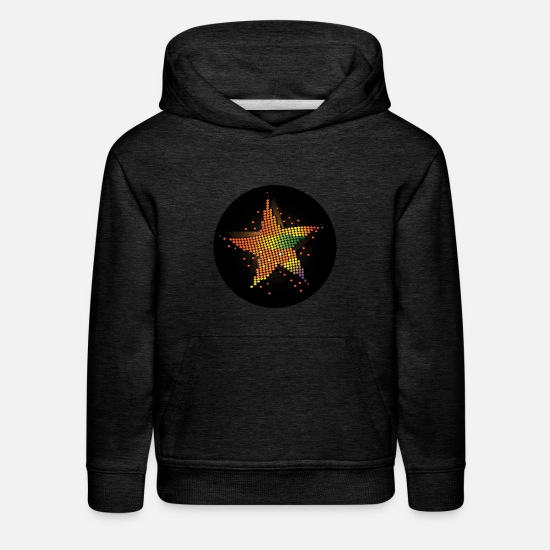Star Hoodies & Sweatshirts - Party Icon - Kids' Premium Hoodie charcoal gray