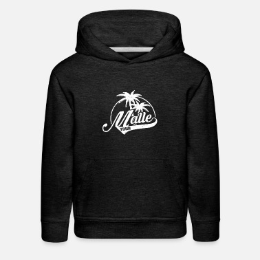Palm Trees Grab Best Grunge Malle Tour Palm Trees Summer T-shirt - Kids' Premium Hoodie