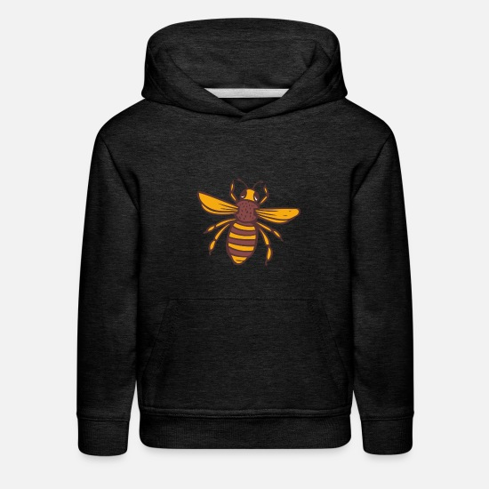 Masonic Hoodies & Sweatshirts - Bee Bees Bee Save the bees gift - Kids' Premium Hoodie charcoal gray