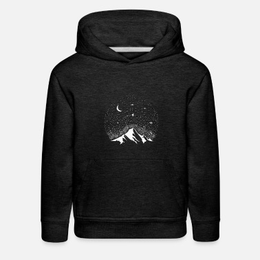 Shooting Star Astro Mountain Shooting Star Space Gift Science - Kids' Premium Hoodie