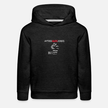 Censorship #FREEALEXJONES Anti-Censorship freedom design - Kids' Premium Hoodie