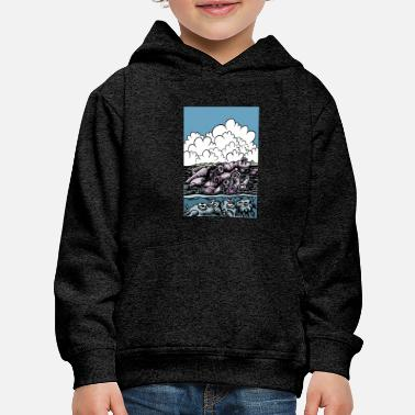 Comics No to plastic in the seas - Kids' Premium Hoodie