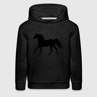 The horse (variable colors!) - Kids' Premium Hoodie