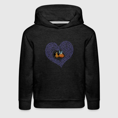 Bee Heart - Cute little cartoon bee-save the bees! - Kids' Premium Hoodie