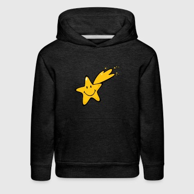 SmileyWorld Smiling Shooting Star - Kids' Premium Hoodie