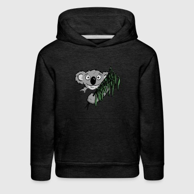 cute little koala bear with eucalyptus as a gift - Kids' Premium Hoodie