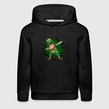 Dabbing Leprechaun with Shamrock St Patricks Day - Kids' Premium Hoodie
