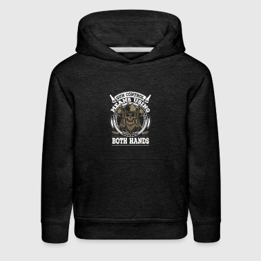 Gun Control Means Using Both Hands - Cool Handgun - Kids' Premium Hoodie