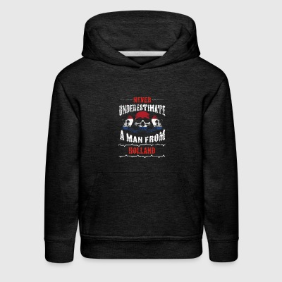 never underestimate man HOLLAND - Kids' Premium Hoodie