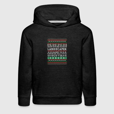 Sleep With Awesome Landscaper White Christmas - Kids' Premium Hoodie