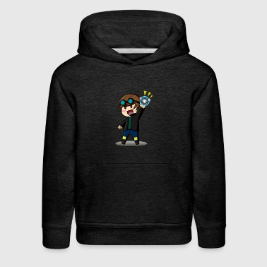 DAN TDM Cartoon Diamond Minecart - Kids' Premium Hoodie