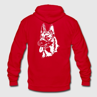 Belgian Malinois dog - Unisex Fleece Zip Hoodie by American Apparel