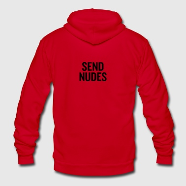 Send Nudes Black - Unisex Fleece Zip Hoodie by American Apparel
