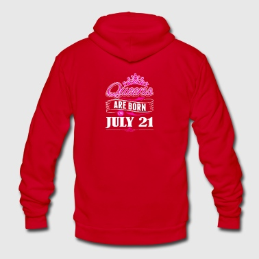 Queens are born on JULY 21 - Unisex Fleece Zip Hoodie by American Apparel