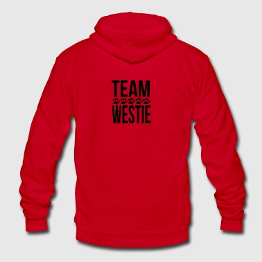 Team Westie - Unisex Fleece Zip Hoodie by American Apparel