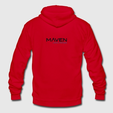 maven - Unisex Fleece Zip Hoodie by American Apparel