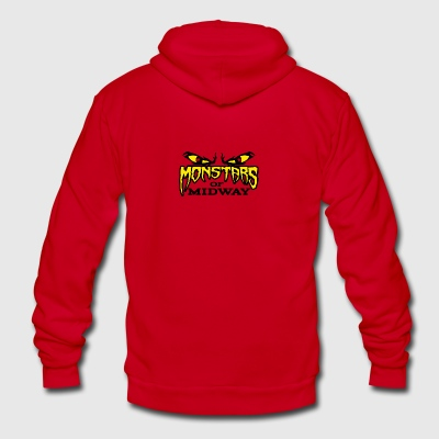 Monstars of Midway - Unisex Fleece Zip Hoodie by American Apparel