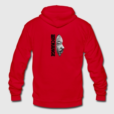 Martin Luther King - Unisex Fleece Zip Hoodie by American Apparel