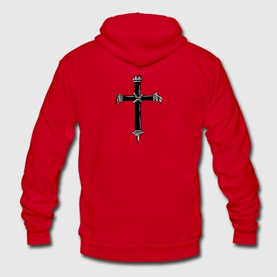 christian_cross_16 - Unisex Fleece Zip Hoodie by American Apparel