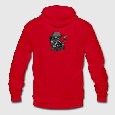 Hunter with Thorn - Unisex Fleece Zip Hoodie by American Apparel