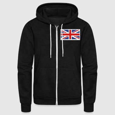 British British Flag - Unisex Fleece Zip Hoodie