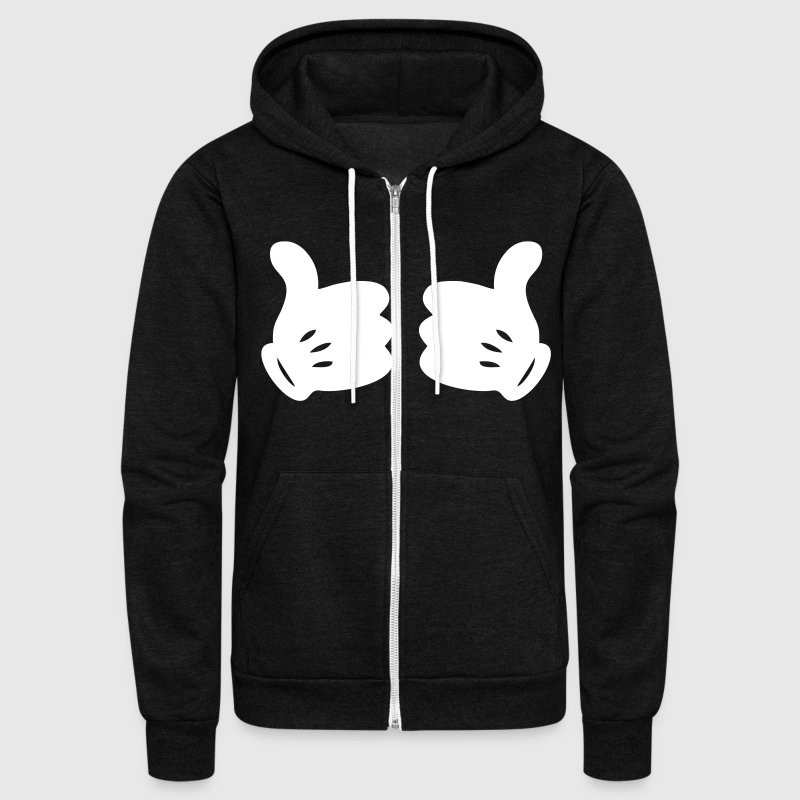 MICKEY HANDS THUMBS UP - Unisex Fleece Zip Hoodie