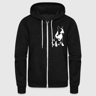 Bull Terrier 2013 1c_4dark - Unisex Fleece Zip Hoodie