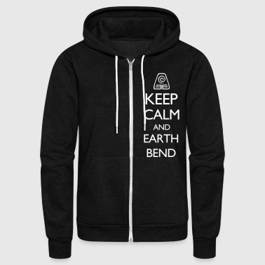 Bend Keep Calm and Earth Bend VECTOR - Unisex Fleece Zip Hoodie
