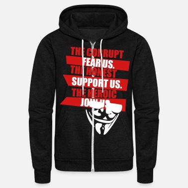 Anonymous Anonymous (HQ) - Unisex Fleece Zip Hoodie