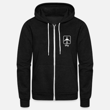 Aviation i_fly_vec_1 - Unisex Fleece Zip Hoodie