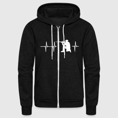 Military MY HEART BEATS FOR THE MILITARY - Unisex Fleece Zip Hoodie