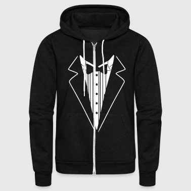 SMOKING TUXEDO SHIRT - Unisex Fleece Zip Hoodie
