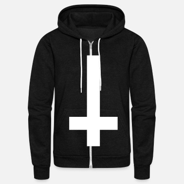 Satanic cross upside down - Unisex Fleece Zip Hoodie