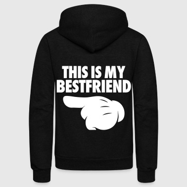 This Is My Bestfriend (Pointing Left) - Unisex Fleece Zip Hoodie