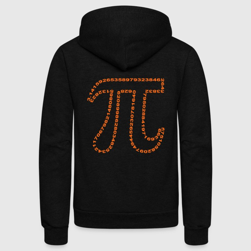 pi outline - Unisex Fleece Zip Hoodie