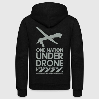 One Nation Under Drone - Support WikiLeaks - Unisex Fleece Zip Hoodie
