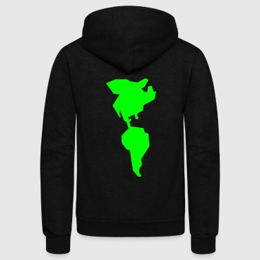 simple americas AMERICA CANADA MEXICO South AMERICA - Unisex Fleece Zip Hoodie