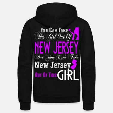 Jersey Girl New Jersey T Shirt, New Jersey Girl T Shirt - Unisex Fleece Zip Hoodie