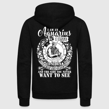 I'm An Aquarius T Shirt - Unisex Fleece Zip Hoodie