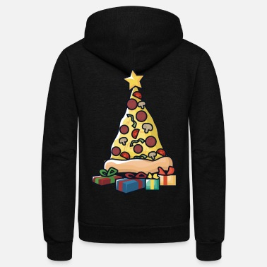 Pizza Pizza Christmas Tree - Unisex Fleece Zip Hoodie