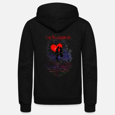 Relationship Say You Love Me - Unisex Fleece Zip Hoodie