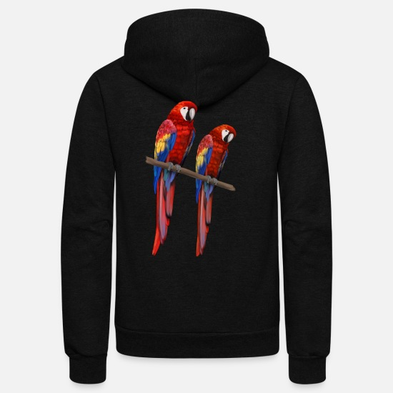 Ara Hoodies & Sweatshirts - Papagei - Ara parrot - Pair Couple - Unisex Fleece Zip Hoodie black