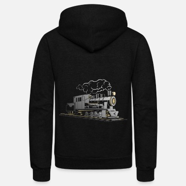 Steam Engine Steam locomotive - Train - steam engine - Unisex Fleece Zip Hoodie