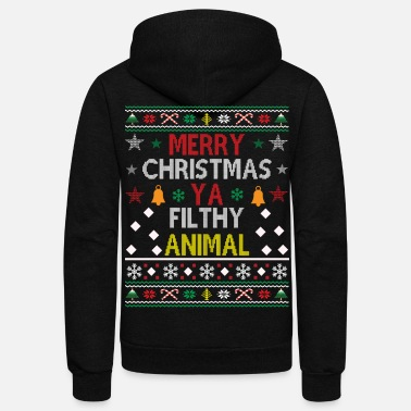 Funny Ugly Christmas Sweater - Unisex Fleece Zip Hoodie