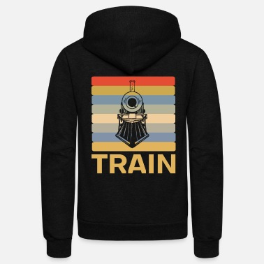 Steam Locomotive Steam locomotive - Unisex Fleece Zip Hoodie