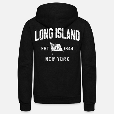 Long LONG ISLAND NEW YORK - Unisex Fleece Zip Hoodie
