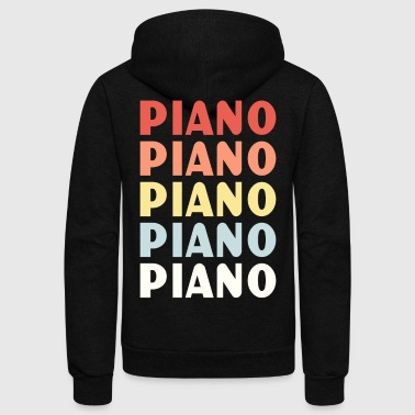 Lessons Piano Lesson - Unisex Fleece Zip Hoodie
