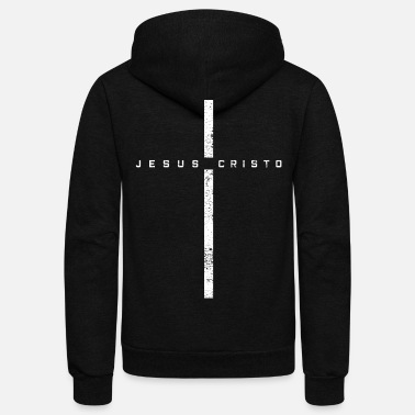 Jesus Christ JESUS CROSS CHRIST - Unisex Fleece Zip Hoodie